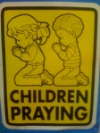 Children Praying sign